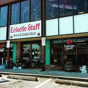 Store's front door, with great parking