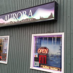 Storefront at the Discovery Inn on Franklin Avenue in downtown Yellowknife