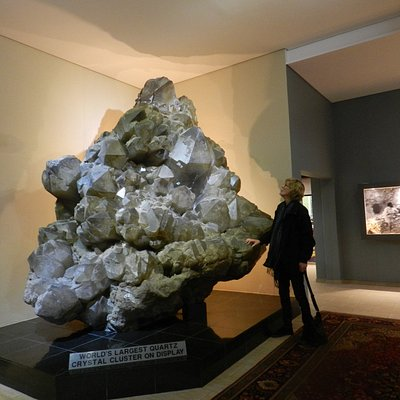 That's me standing next to the largest pice of quartz cluster in the world!