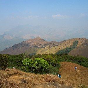 Breathtaking view from the top of Thadiyandamol hills
