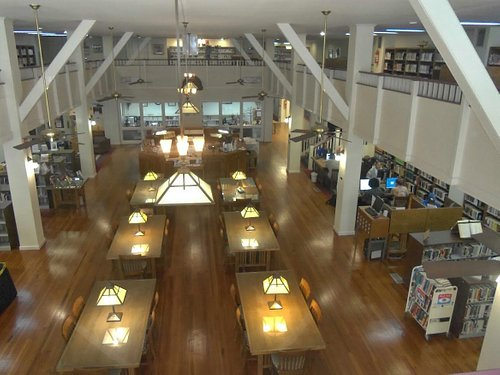 View of the first floor from the Mezzanine.