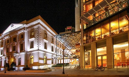 Slover Library at Night