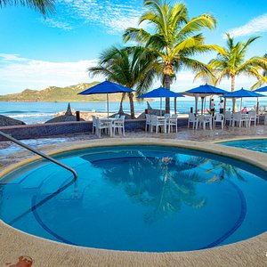 The Main Pool at the Las Flores Beach Resort