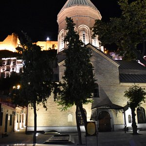Cathedral of Saint George at night