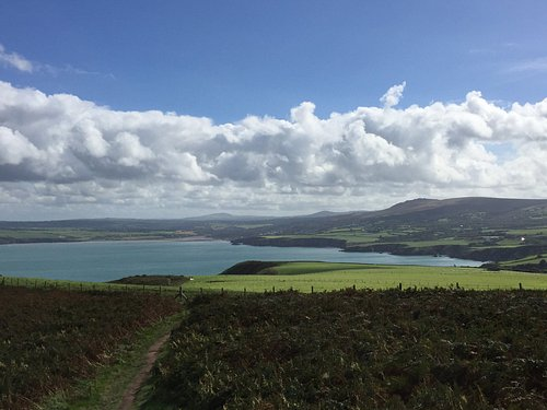 Looking east from Dinas Head