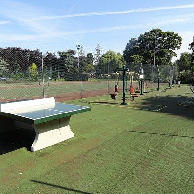 Outdoor Gym area next to the tennis court