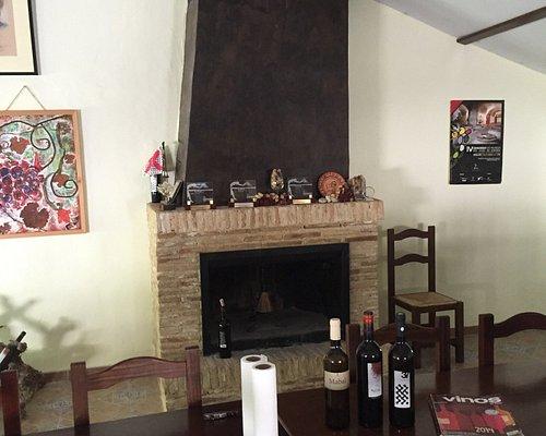 Del av vinodlingarna och bodegan där vi senare provade några viner, mkt. bra!