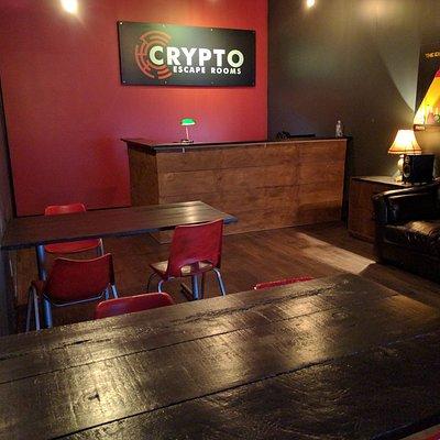 Lobby at Crypto Escape Rooms