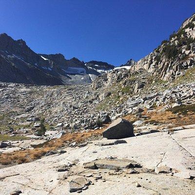 Up towards Lyell peak