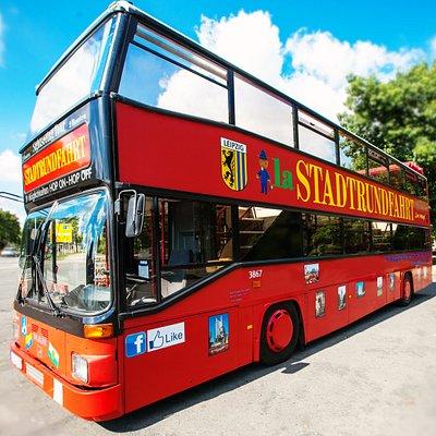 Typischer Bus der Leipziger Stadtrundfahrten