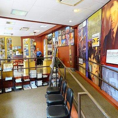 inside visitors center