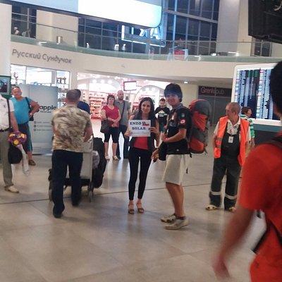 Nuestra llegada al aeropuerto de Samara