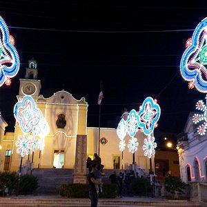 Chiesa Santa Maria delle Grazie - Sannicola (LE): luminarie festa patronale.