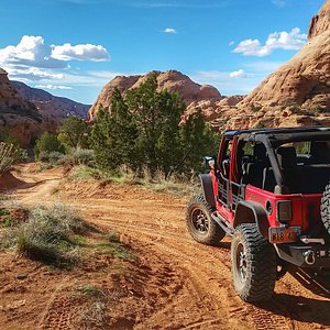 Jeep tour in Moab.