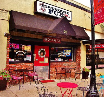 Firehouse pub and outdoor seating