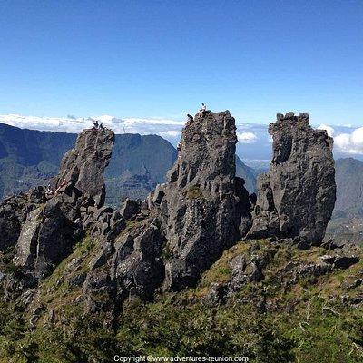 Escalade des Trois Salazes à la Réunion avec un guide de haute montagne