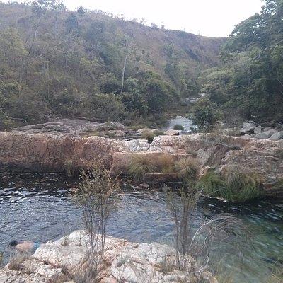 Poço das Antas, pertinho a pé da Cachoeira de São Félix, São Domingos, Cavalcante.