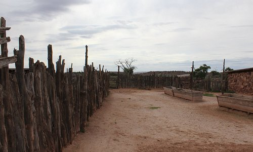 Picture of part of the exterior of the trading post