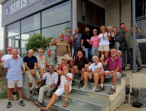 The Cyprus Rambling Club say cheers to Voreia Beers