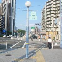 歩道上の標識
