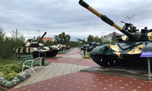 Victory Park Kostanay - Tanks which saw active service in Afghanistan.
