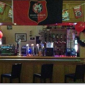 notre bar  décorée suivant les evenement sportif