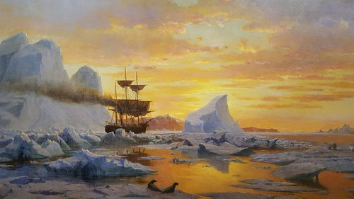 "Wonderful collection by William Bradford. This is ""Ice Dwellers Watching the Invaders"""