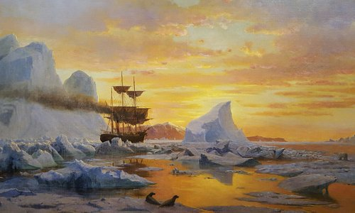"""Wonderful collection by William Bradford. This is """"Ice Dwellers Watching the Invaders"""""""