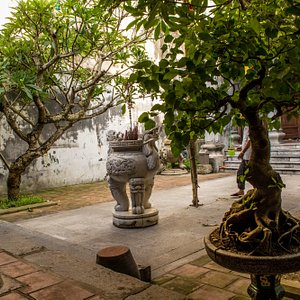 Outside court yard area of Kin Ngan Temple