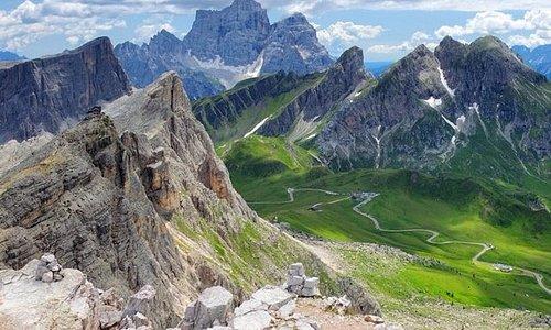Passo Giau visto dalla cima dell'Averau