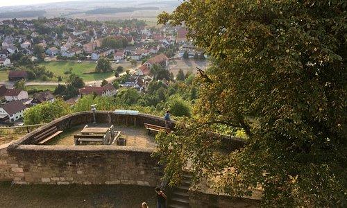 Ausblick von der Schlossberg-Gaststätte