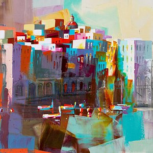 Landscape & figurative paintings by Micko (Serbian)