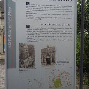 Panneau explicatif de l'église