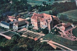 l'abbaye vue du ciel