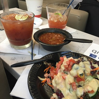Bloody Mary's chili and salad