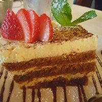 Dessert and lobster ravioli