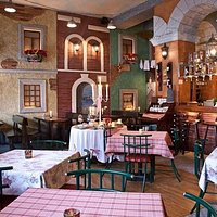 Very cute interior design..it looks like you are on small italian square