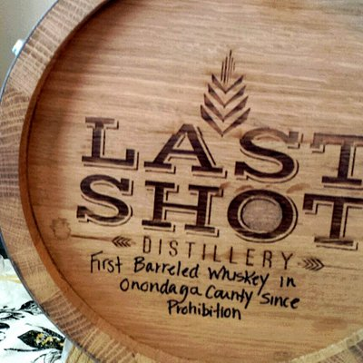 First barreled Whiskey in Onondaga County since prohibition made at Last Shot.