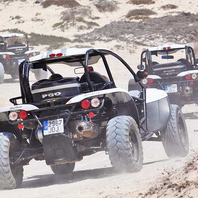 Dry river bed sand dunes going to Cotillo.... Awesome