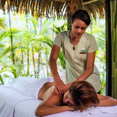 Relax with a variety of massages, facials, wraps, manicures and pedicures