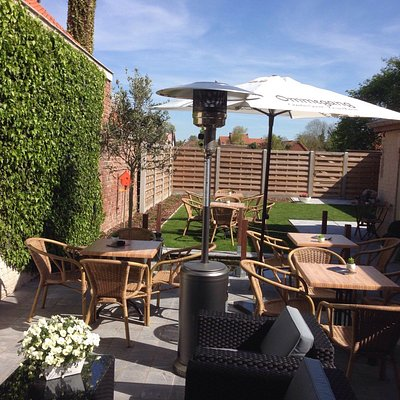 Nice and sunny terrace in the garden