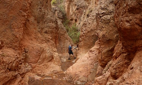The way up to the canyon is nice, only at few places you need to use your hands