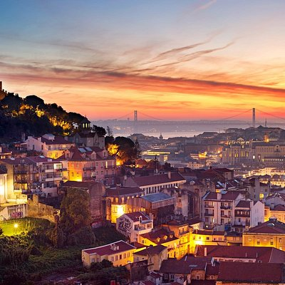 Amazing view over Lisbon sunset