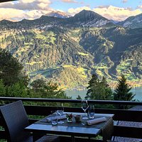 Outside dining with unforgetable views .