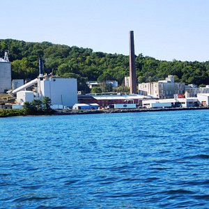 U.S. Salt LLC at Watkins Glen, seen from Seneca Lake