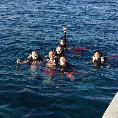 Boat dives are fun especially with friends around. Scuba diving in Mactan, Cebu.