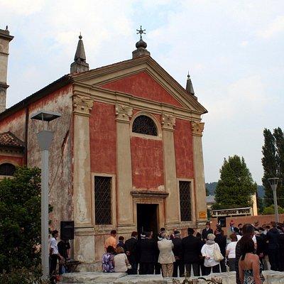 """S.Giuseppe, ora adibita a """"Sacrario delle Bandiere""""."""