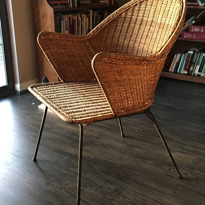 Wicker chair from Avondale Antiques - Love it!