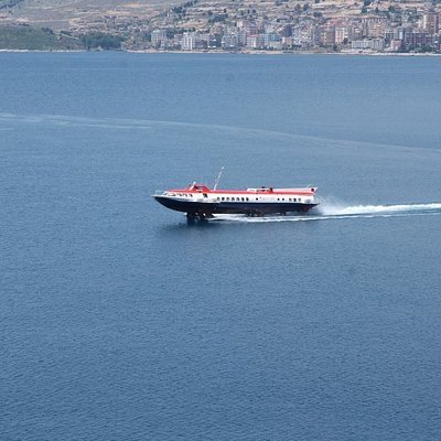 With this speed boat you arrived from Corfu to Saranda in 30 minutes.