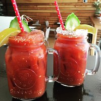 Bloody Mary's!!! Come in for a quick 'pick me up' 🍹👊🍅